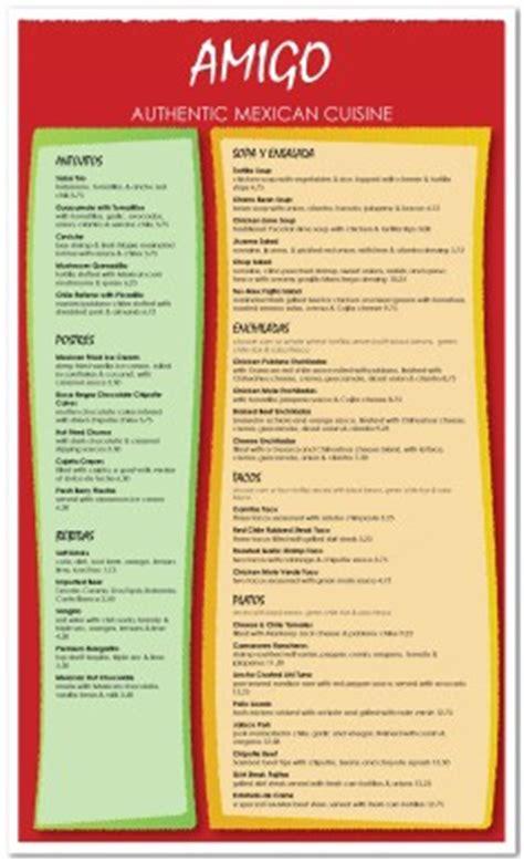 mexican breakfast menu template mexican menus