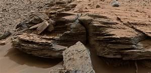 APOD: 2015 February 9 - Layered Rocks near Mount Sharp on Mars