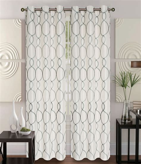curtains with grommets pair of owen ivory faux silk window curtain panels w grommets