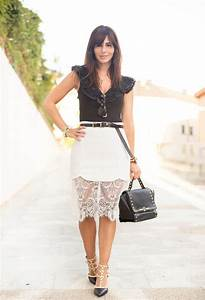 Beautiful Summer Outfit Ideas with Feminine Lace Skirts - Pretty Designs