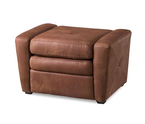 home styles rustic brown microfiber gaming chair ottoman