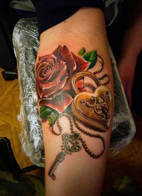 27 Awesome Lock And Key Tattoos Ideas