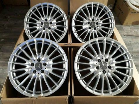 """Perfect cooling of the brakes by improved ventilation and excellent heat conductivity of the material. NEW ALLOYS 19"""" MERCEDES TURBINE S E C CLASS C63 W205 AMG SL CLS W204 R172 W212 ALLOY WHEELS R19 ..."""