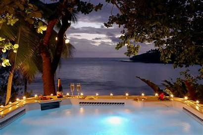 Fiji Jacuzzi Sunset Romantic Tub Night Backgrounds
