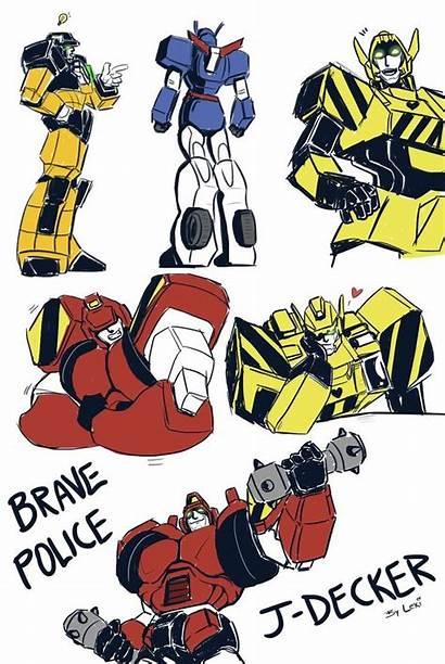 Brave Police Decker Transformers Deviantart Fulcrumisthebomb Dumpson