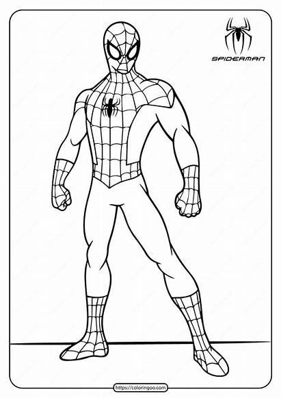 Spiderman Coloring Printable Marvel