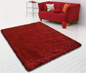 Great with moquette shaggy for Tapis rouge avec canapé 145 cm