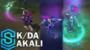 K  Da Akali Skin Spotlight - League Of Legends