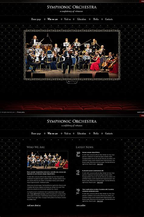 orchestra html template