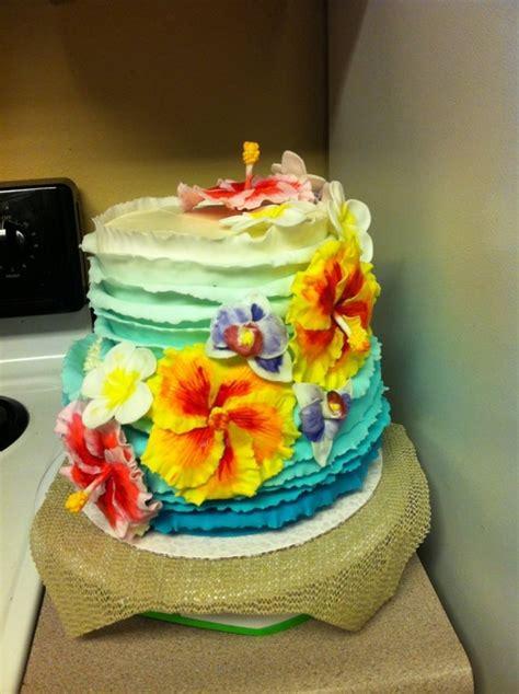 Hawaiian Theme Cake Cakecentralcom