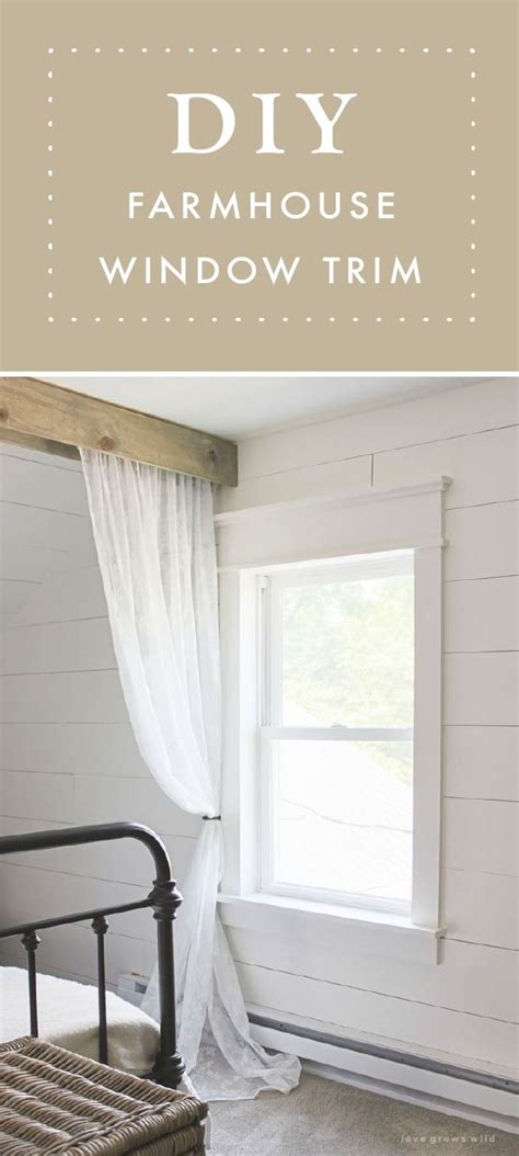 farmhouse window trim diy home decor farmhouse trim