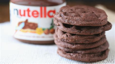 desserts to make with nutella 3 ingredient nutella cookies are the easiest dessert you ll make
