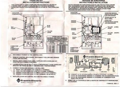 franklin overload kit  hp  control box part