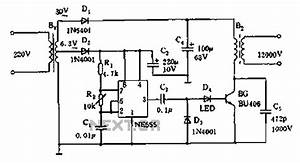 flyback driver 555 With 555 pulse generator circuit further variable high current power supply
