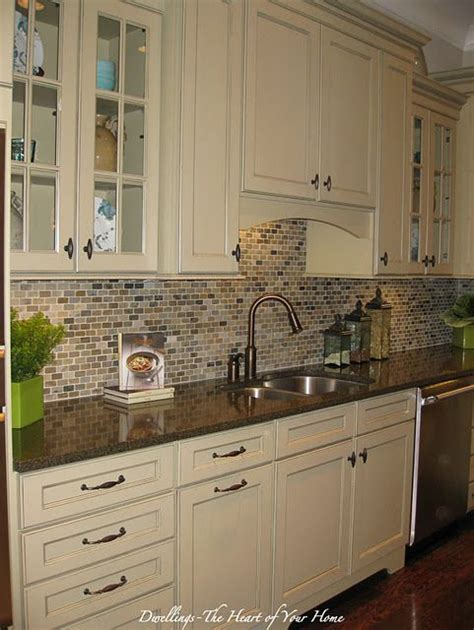 cream backsplash with white cabinets backsplash love this could still keep cabinets just add