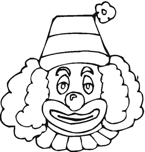 Kleurplaat Clowsgezicht by Clown Coloring Pages For Coloring Worksheets 3