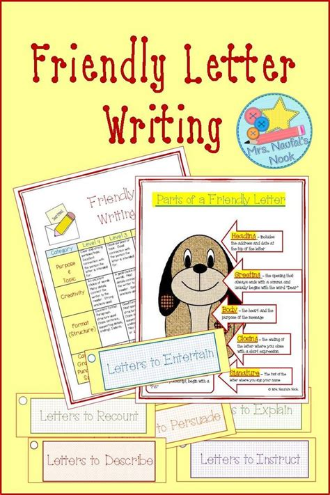 friendly letter writing graphic organizers prompts