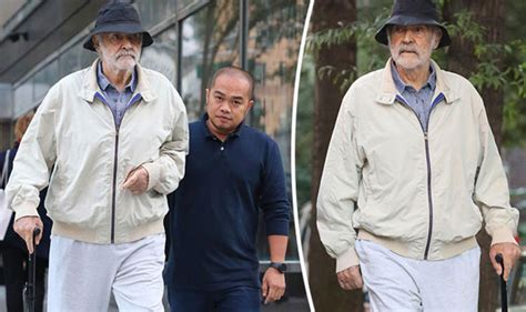 Sir Sean Connery, 87, Appears Frail As He Steps Out With