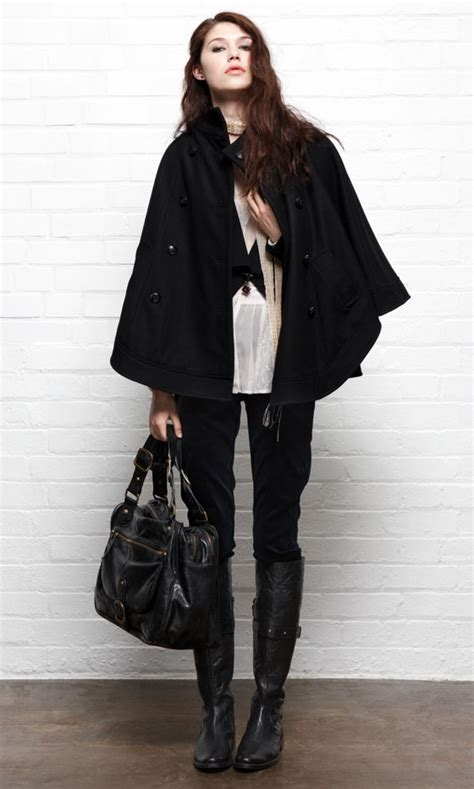 Playing It Cool - 7 Fab Ways to Style a Cape Coat ... u2026