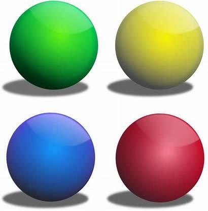 Clipart Sphere Clip Spheres Balls Colors Cliparts