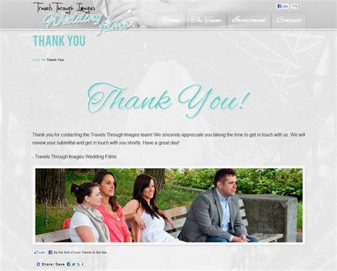 Travels Through Images Wedding Films Website Design