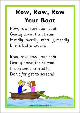 Row Your Boat In English by Row Row Row Your Boat Song Sheet Sb10945 Sparklebox