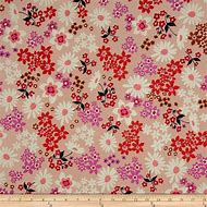 Cotton + Steel Playful Lawn Vintage Floral Pink …