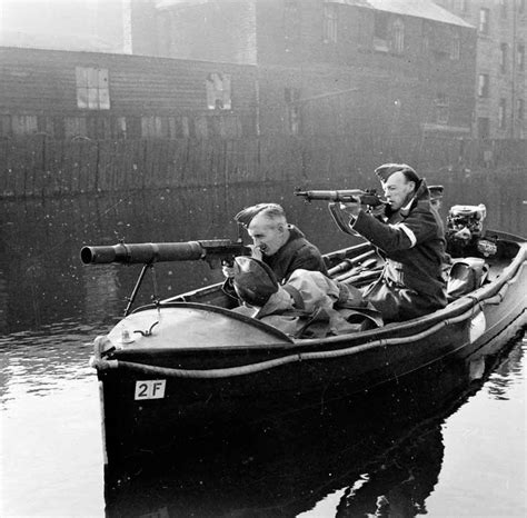 Motor Boat Homes by 3 December 1944 Britain The Home Guard Are Stood