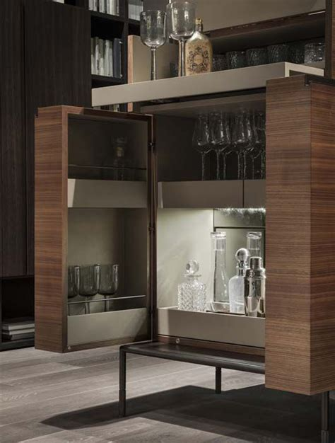 Modern Bar Cabinets by Contemporary Bar Cabinet Metal Wooden By Christophe