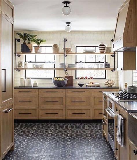 kitchen trend open shelving  front  windowsbecki owens