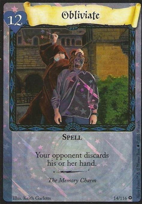 obliviate trading card harry potter wiki fandom