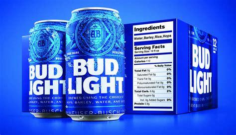 Bud Light - bud light adding bigger nutrition labels for packaging