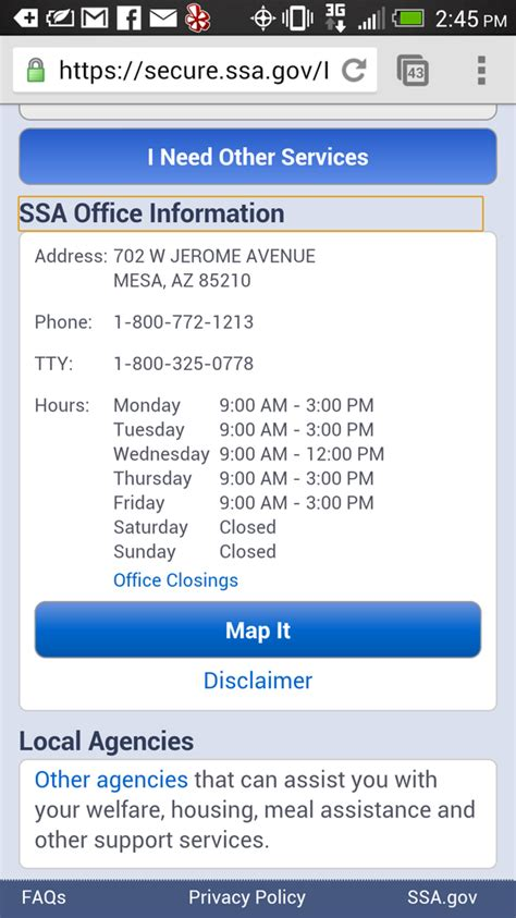 phone number for social security administration social security administration az phone number