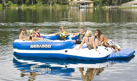 Coleman Inflatable Boat Costco by Inflatable Island Sea Doo Aqua Lounge Inflatable Island