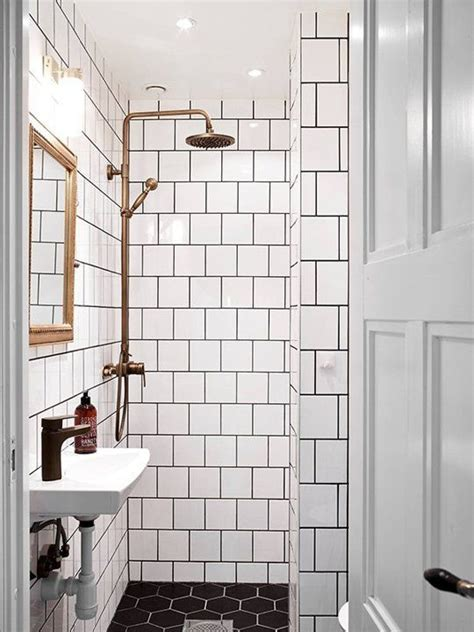 25 best ideas about white tiles black grout on