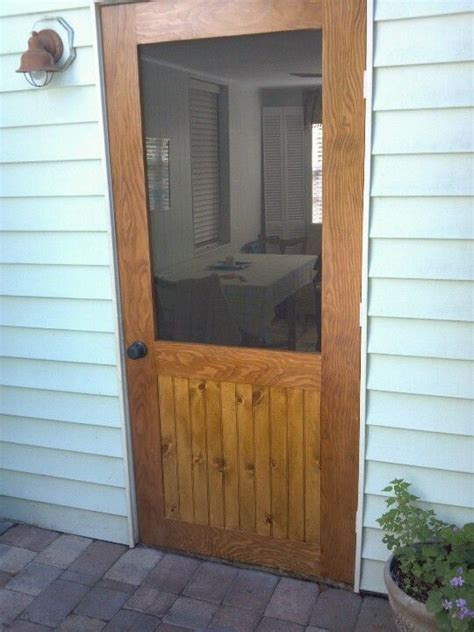 andrew fleming llc   diy screen door wood screen