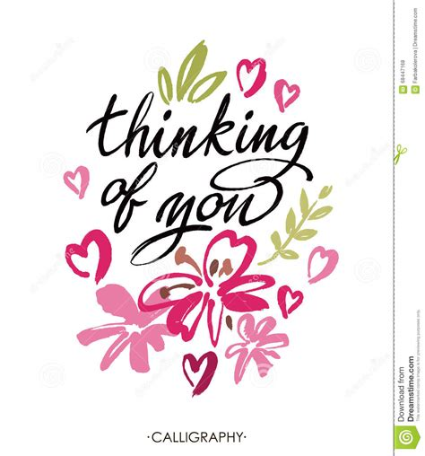 thinking of you clipart thinking of you vector brush calligraphy handwritten ink
