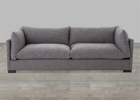 Fabric Loveseats by Upholstered Gray Fabric Sofa