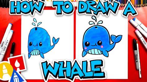 draw  funny whale art  kids hub