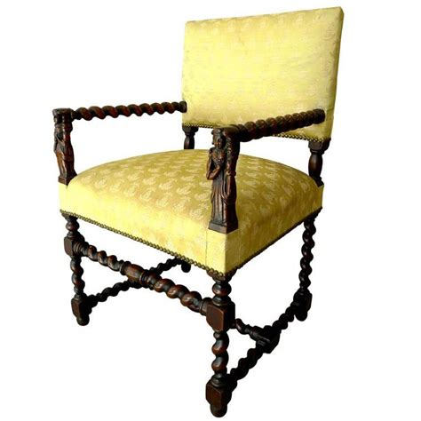 jacobean style barley twist arm chair at 1stdibs