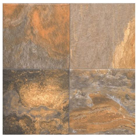 ceramic slate tile shop interceramic slate supremo 10 pack multicolor ceramic floor tile common 16 in x 16 in