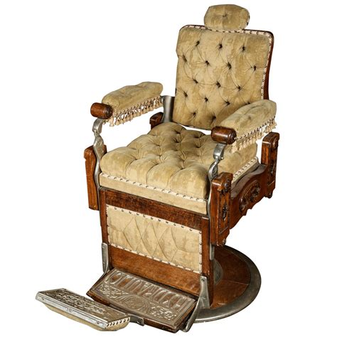 restored 1800s barber chair by kochs at 1stdibs