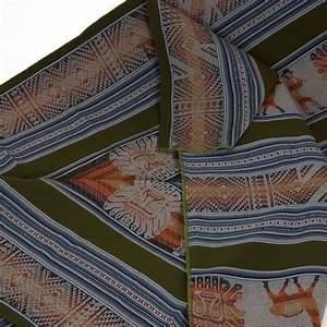Decke Abhängen Mit Stoff : gro e decke aus peru mit tradionellem muster gr n ~ Bigdaddyawards.com Haus und Dekorationen