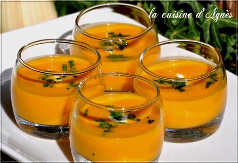 cuisine potimarron soupe épicée au potimarron la cuisine d 39 agnèsla cuisine