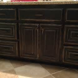 How To Paint Cabinets To Look Distressed by Distressed Black Cabinets Cabinets Pinterest In