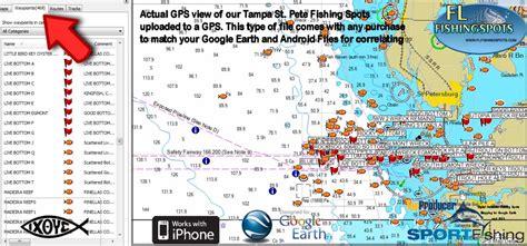 florida fishing maps  gps coordinates florida