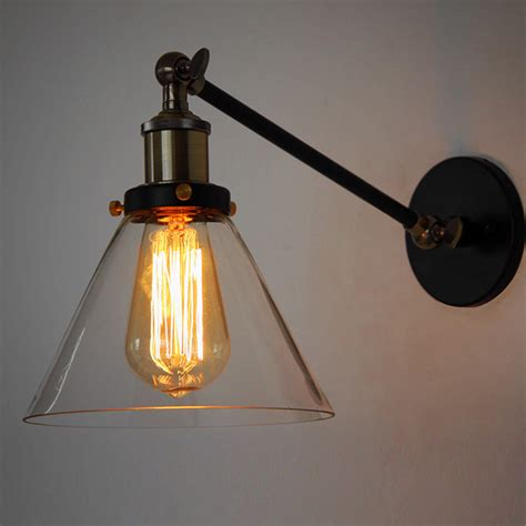 nordic industrial vintage loft swing arm wall sconce retro