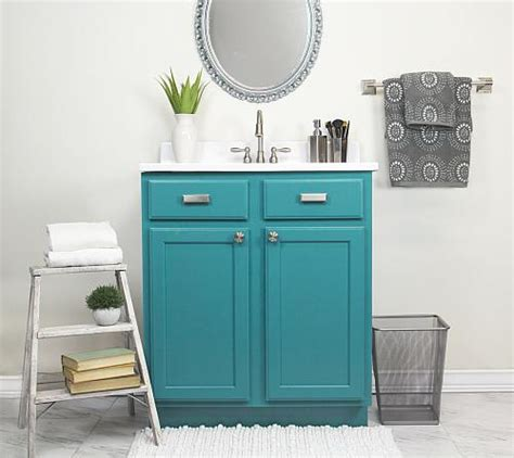 bathroom vanity satin enamel update project  decoart