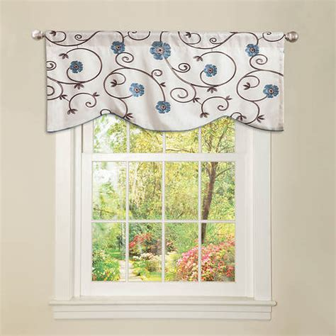 lush decor royal garden valance stoneberry