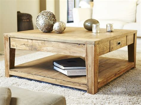 table basse carree teck table basse carr 233 e teck recycle 100cm